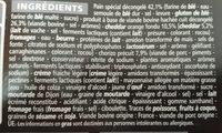 Burger Chorizo Cheddar Fondu - Ingredients
