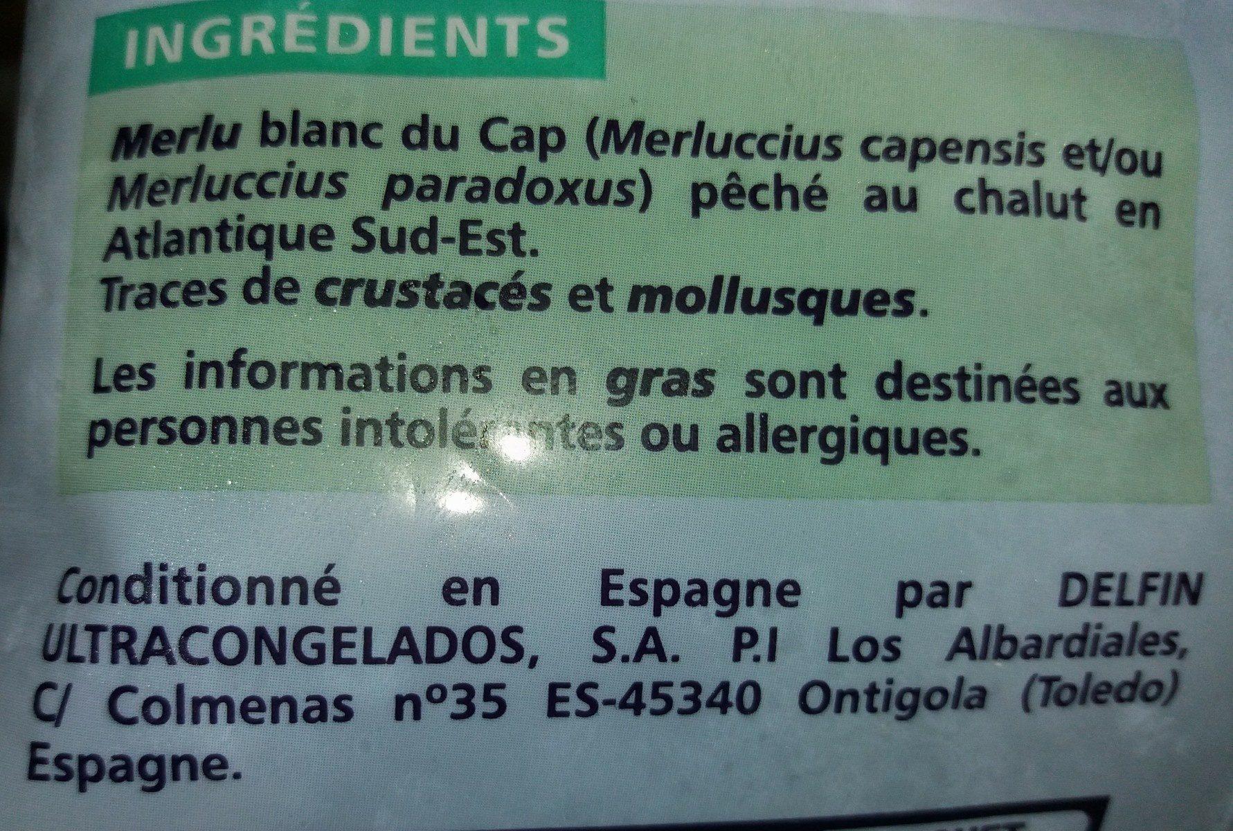 Petits Merlus Blancs - Ingredients
