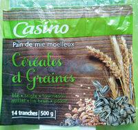 Pain de mie moelleux Céréales et Graines - 14 tranches - Product - fr