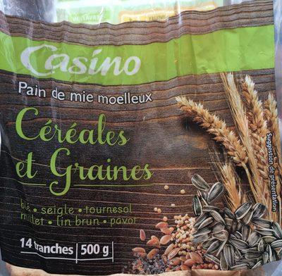 Pain de mie moelleux Céréales et Graines - 14 tranches - Produit - fr