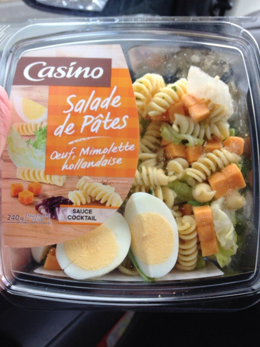 Salade de pâte oeuf, mimolette hollandaise - Produit