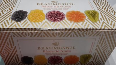Pâtes de fruits parfums abricot, poire, ananas, orange, framboise et cassis - Product