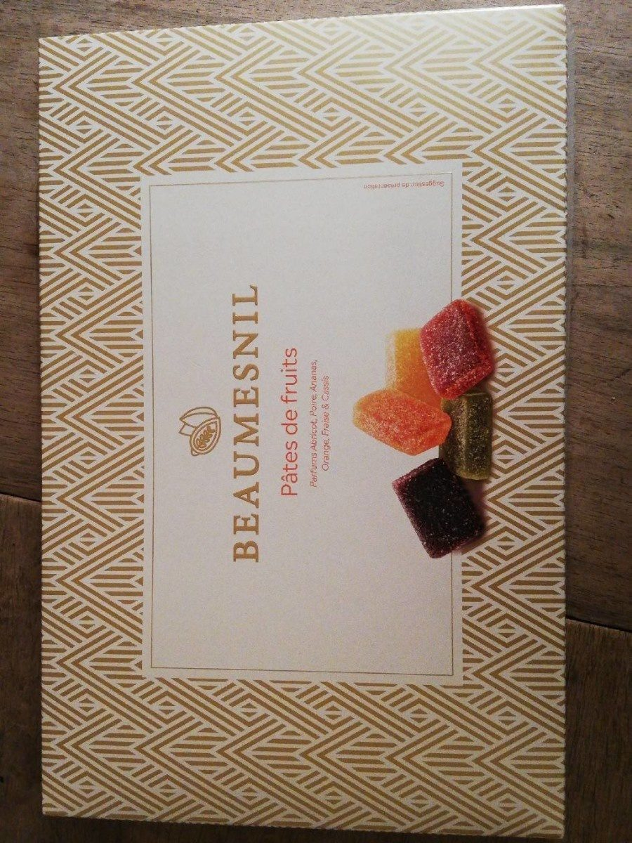 Pâtes de fruits parfums abricot, poire, ananas, orange, fraise et cassis - Product