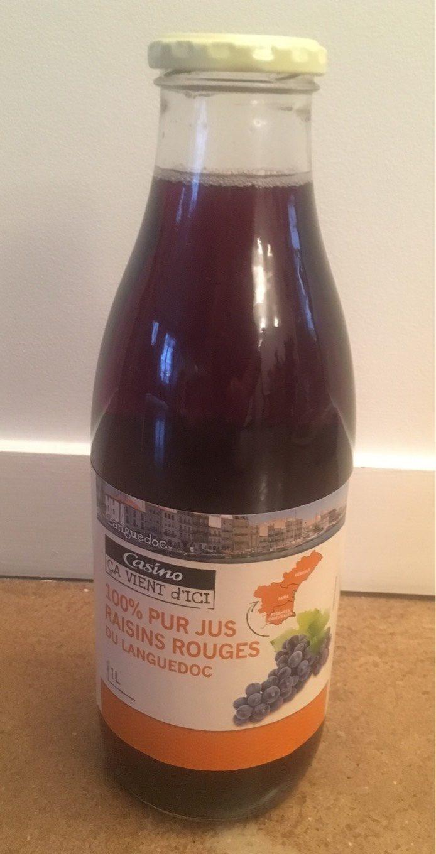100% pur jus raisins rouges du languedoc - Product - fr
