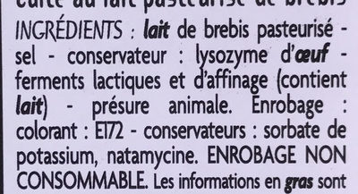 Saveurs d'Ailleurs Queso Manchego - Ingrediënten - fr