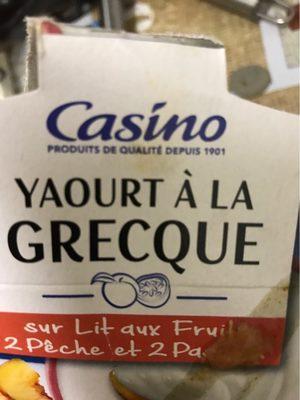 Yaourt à la grecque sur lit aux fruits 2 pêche 2 passion - Product