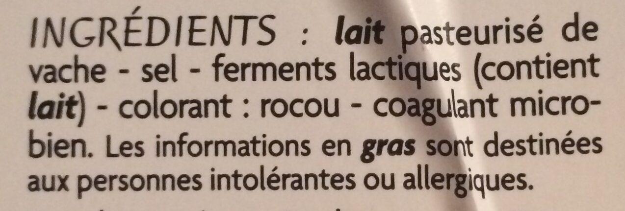 Cheddar - 10 tranches - Ingrediënten - fr