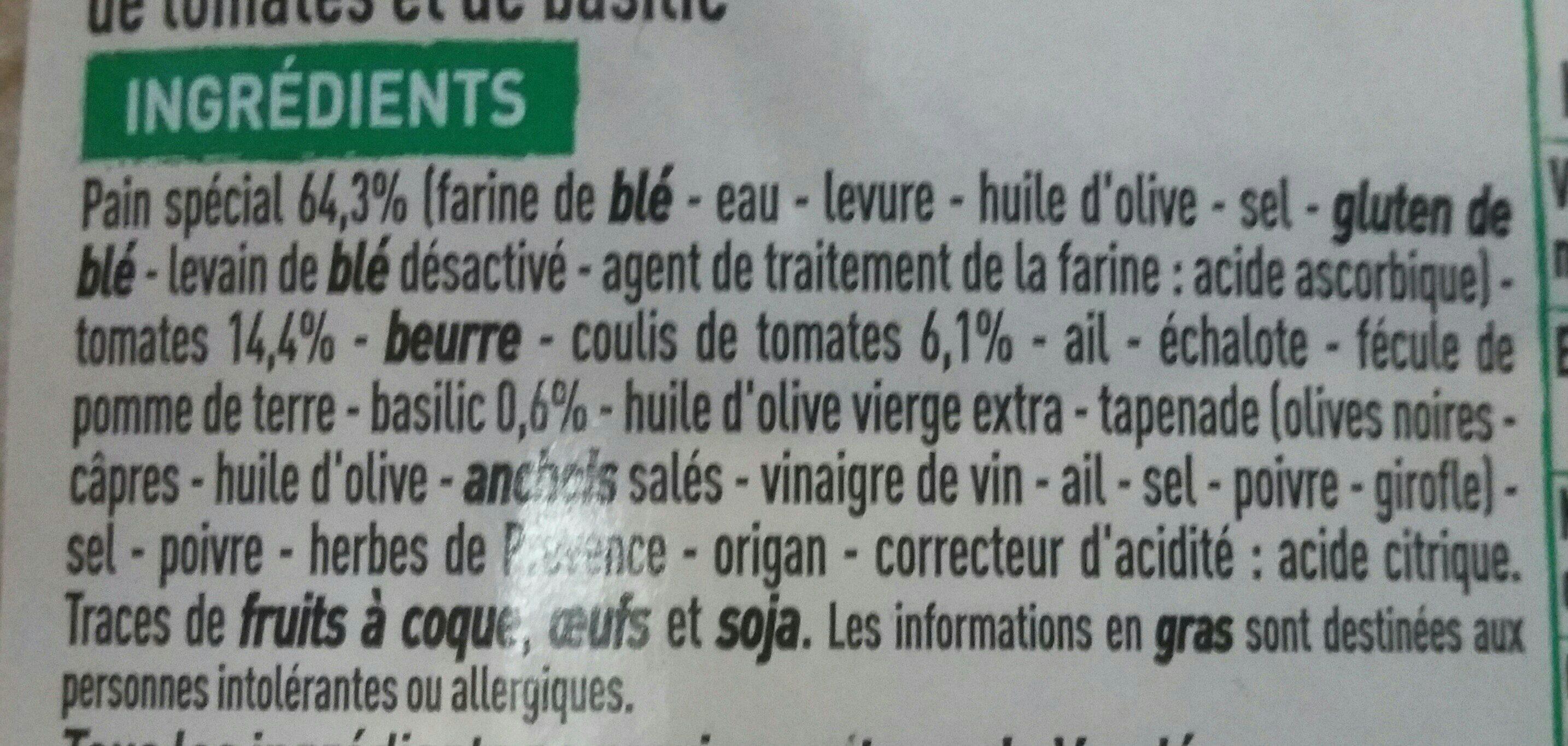 Préfou vendéen tomates basilic - Ingredients
