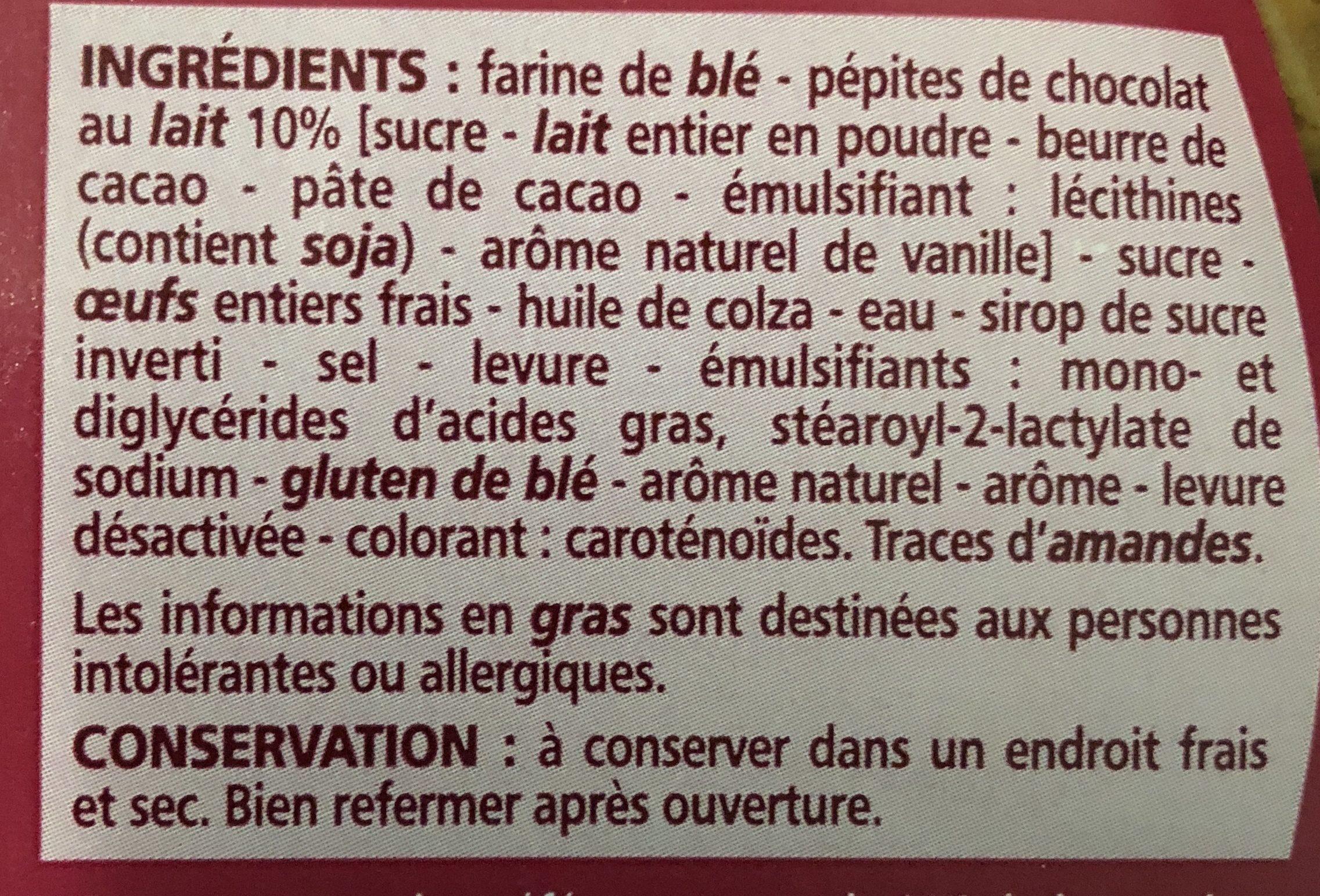 Brioche des rois aux pépites de chocolat au lait - Ingredients - fr