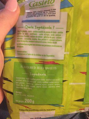 Langu'acide goûts fruits et cola CASINO - Ingrédients