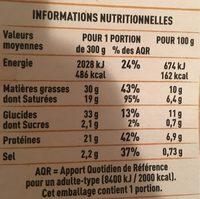 Tartiflette au Reblochon de Savoie - Nutrition facts