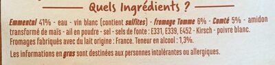 Fondue aux 3 Fromages - Ingrediënten - fr