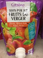 100% Pur Jus Fruits du Verger - Pomme, Abricot, poire, Raisin, Pêche - Product