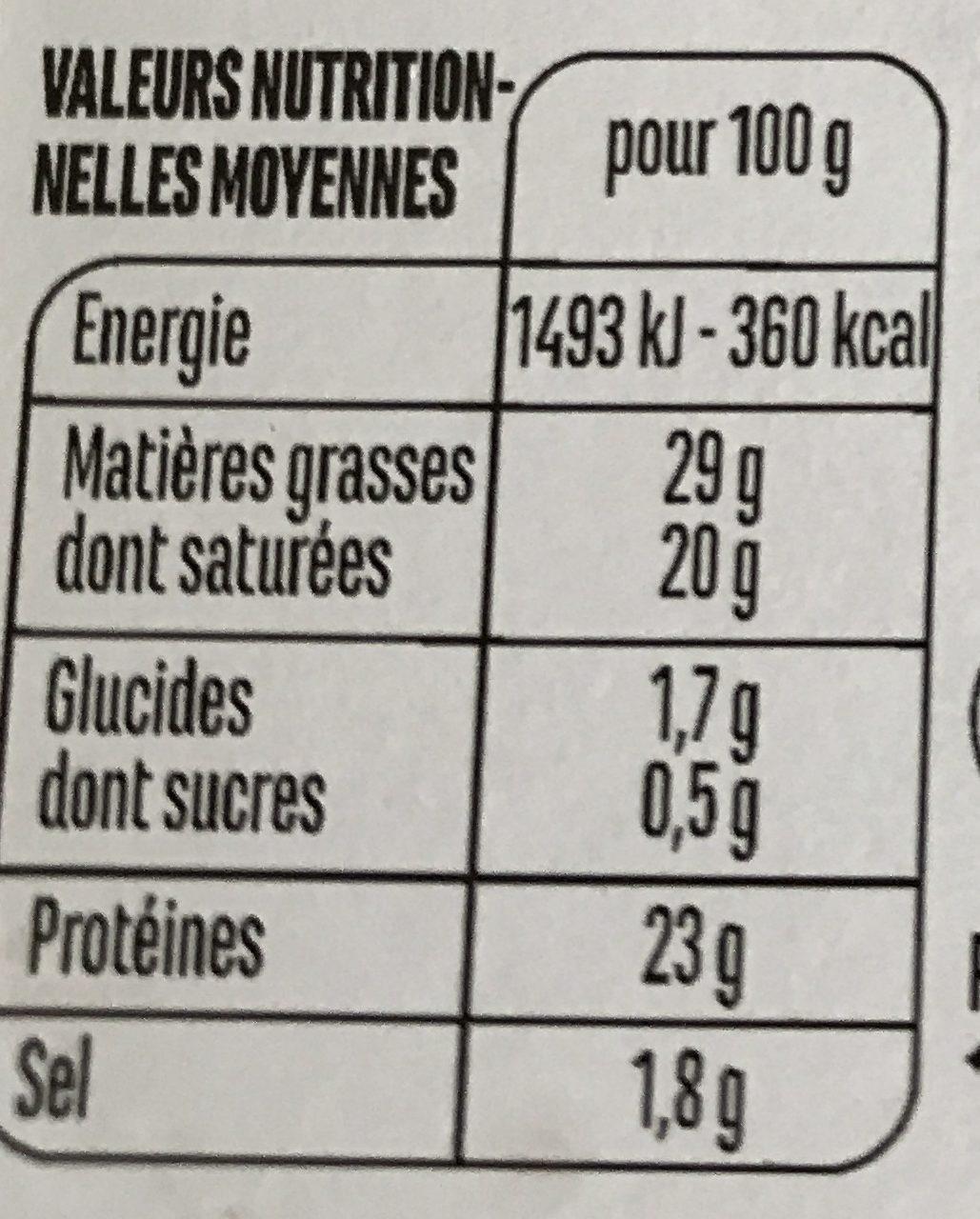 Dés de Gouda au cumin - Voedingswaarden - fr