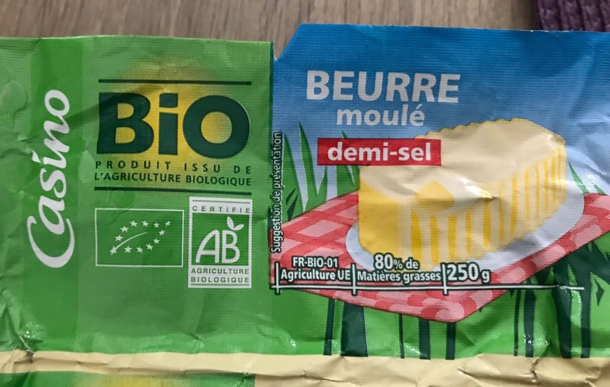 Beurre moulé demi sel BIO - Product - fr