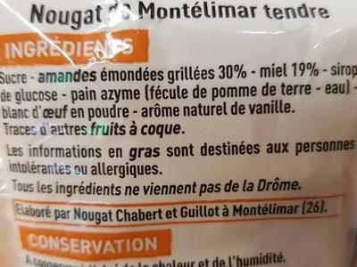 Nougat de Montélimar tendre Casino Ça Vient d'Ici - Ingredients