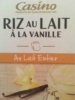 Riz au lait à la vanille - Au lait entier - Product