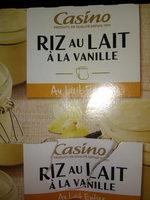 Riz au lait à la vanille - Au lait entier - Nutrition facts
