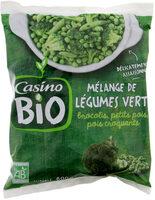 Mélange de légumes verts Bio - Brocolis, petits pois, pois croquants - Product