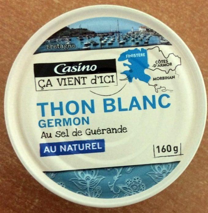Thon blanc Germon au naturel au sel de Guérande - Product - fr