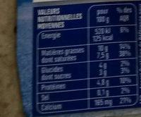 Yaourt nature à la Grecque au Lait de Brebis - Voedingswaarden - fr