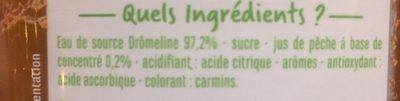 Eau aromatisée saveur pêche - Ingrédients - fr