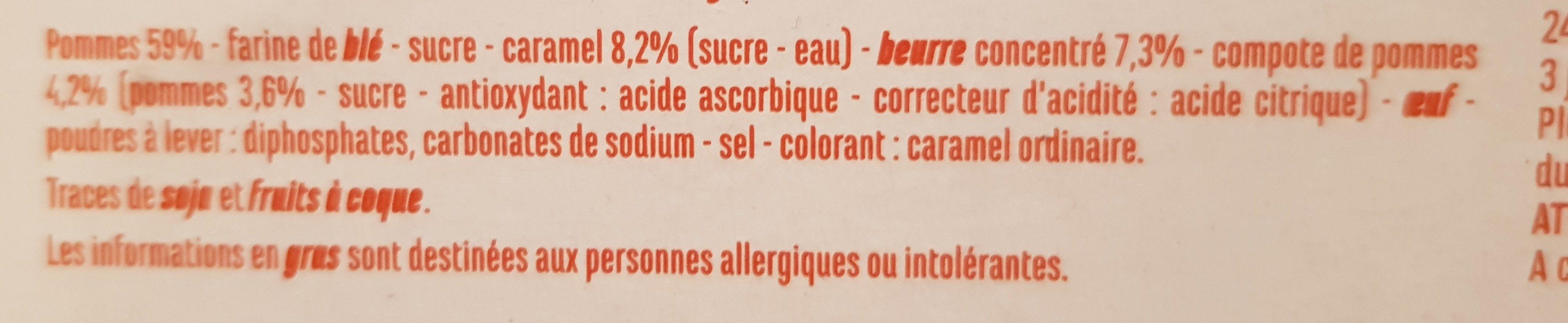 Tarte tatin - Ingredients