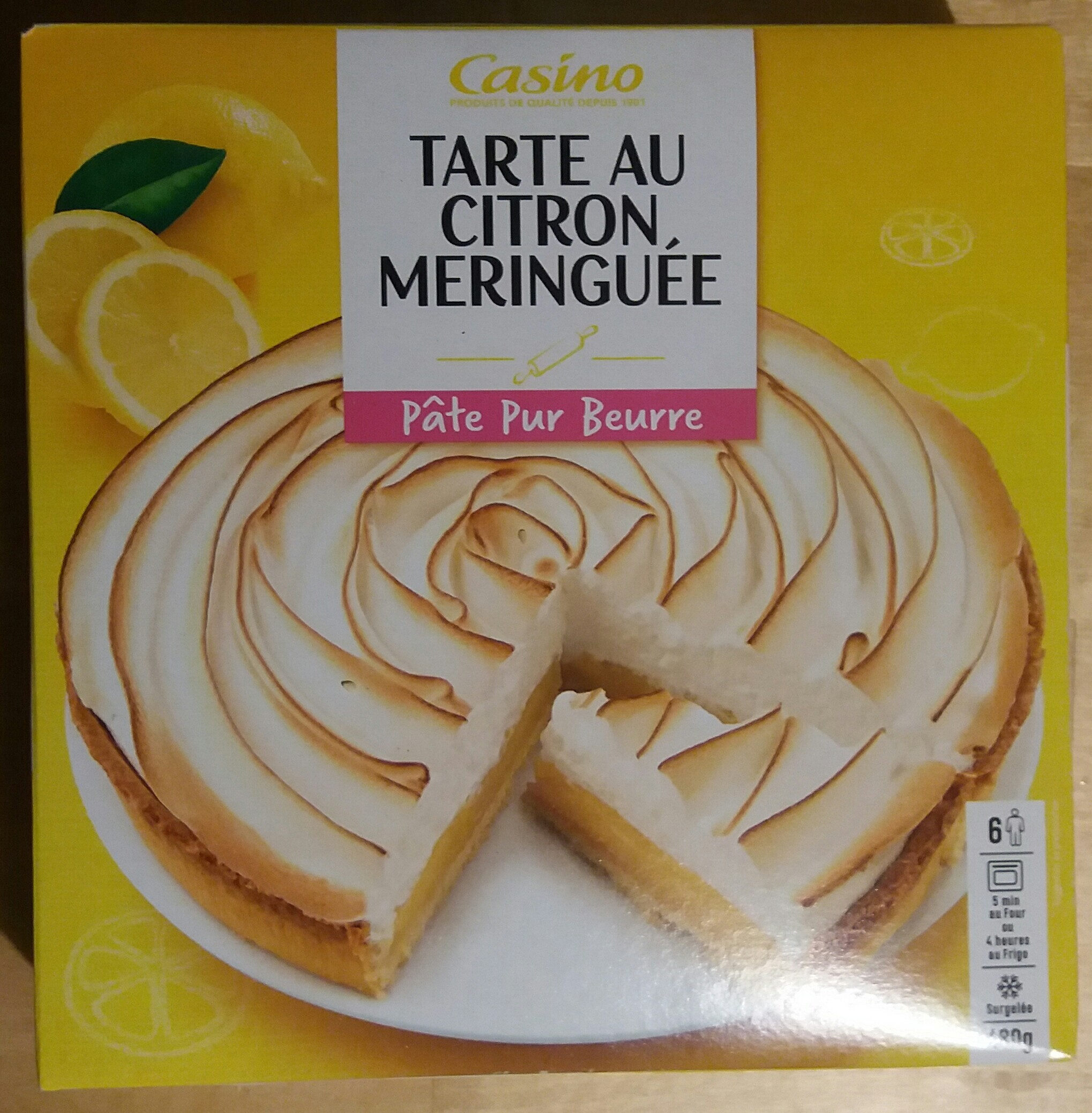Tarte citron meringuée - Product - fr