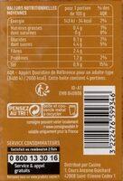 Chair de tomates basilic - Información nutricional