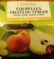 Coupelles Fruits du Verger au sirop léger - Produit