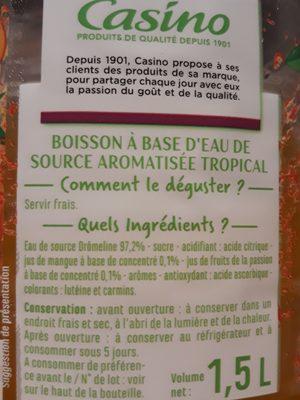 Eau aromatisée saveur tropical - 6