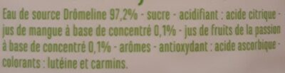 Eau aromatisée saveur tropical - Ingrédients