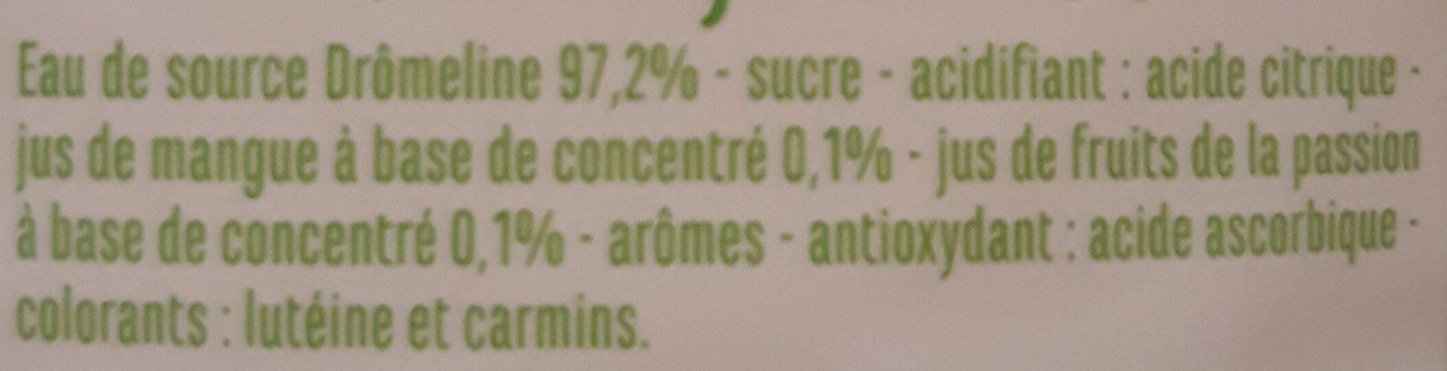 Eau aromatisée saveur tropical - Ingrédients - fr