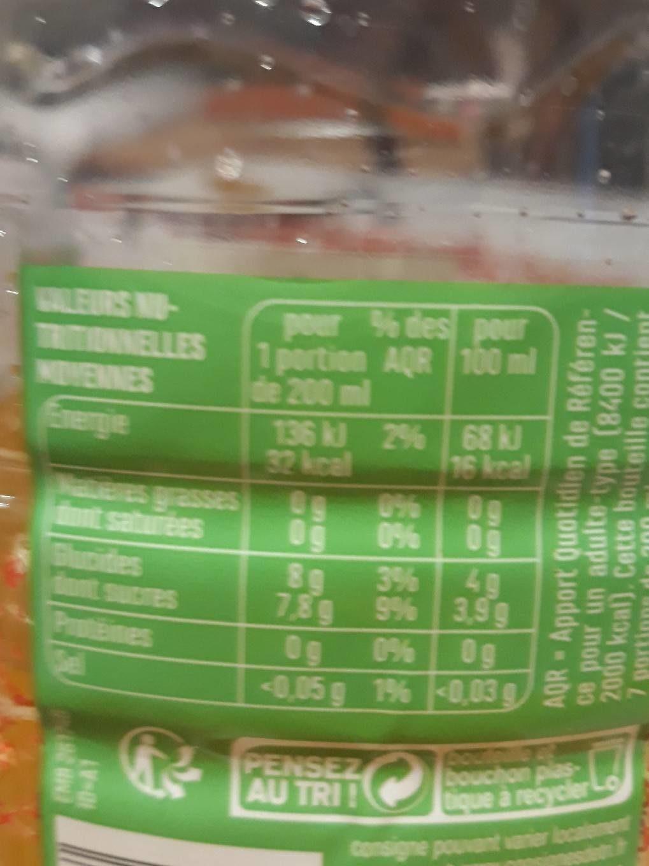 Eau aromatisée saveur tropical - Informations nutritionnelles - fr