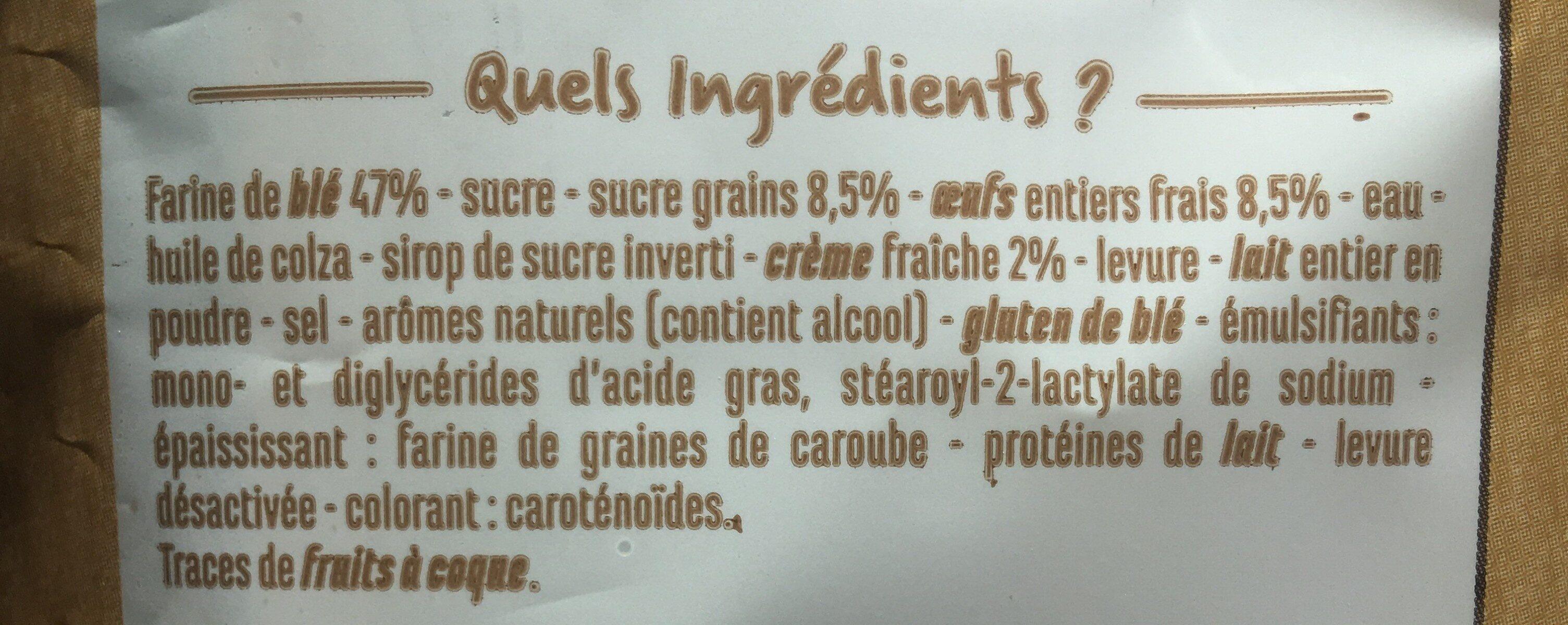Brioche tressée à la main au sucre perlé - Ingrédients - fr