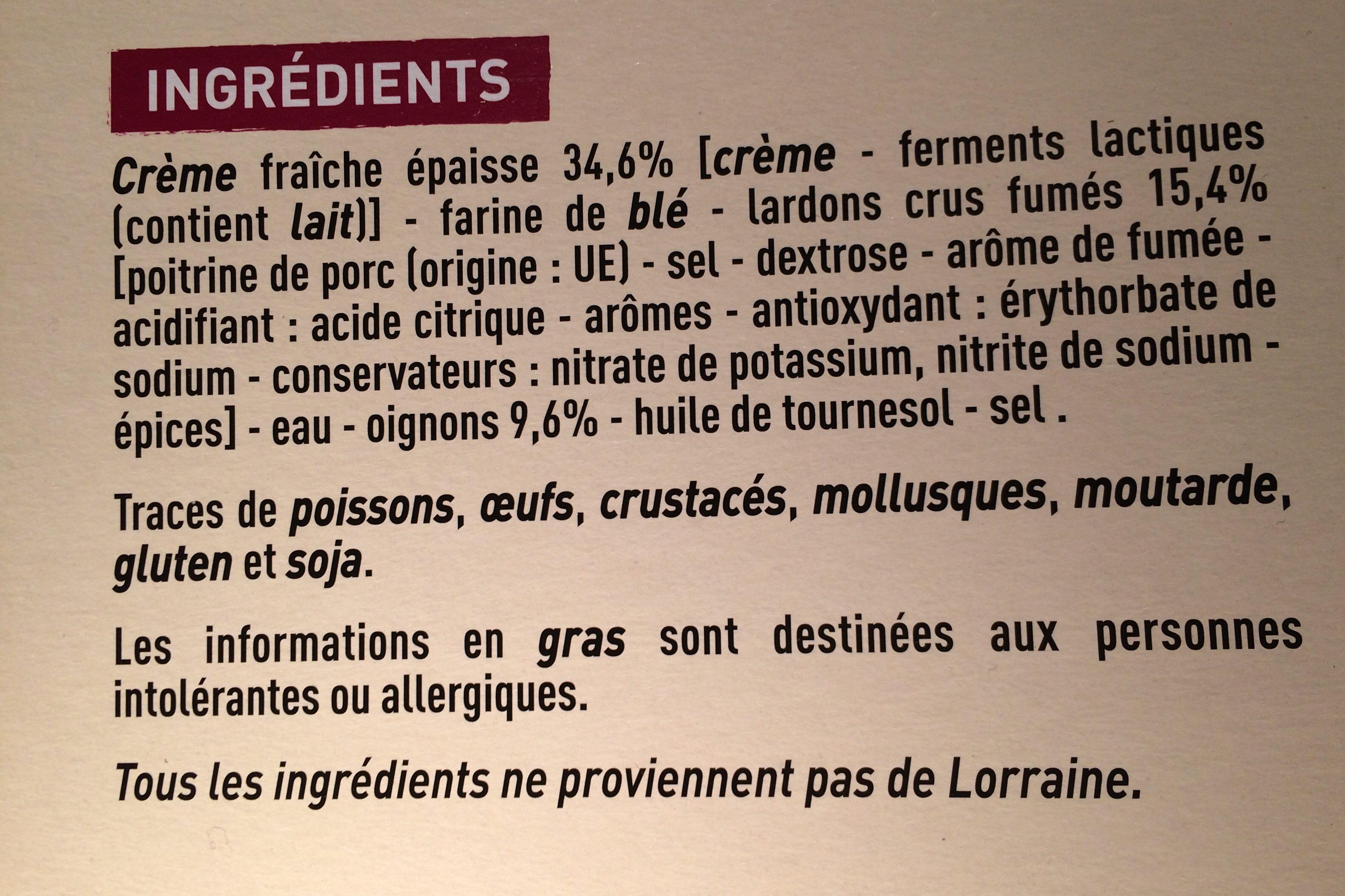 Flammekueche de Moselle - Ingredients