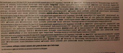 16 Mini briochés (poulet au curry, oignons fromage de chèvre & miel, légumes & abricot à l'orientale, tomate cerise courgette & mozzarella) - Ingredients - fr
