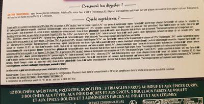 12 bouchées apéritives - Ingredients