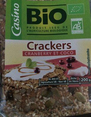 Crackers Cranberries Coco Bio - Producto
