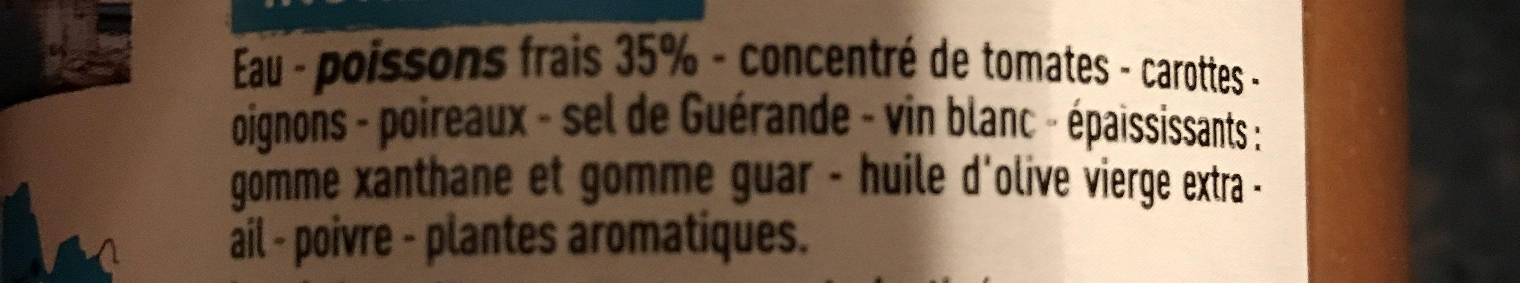 Soupe de poissons bretonne - Ingrédients