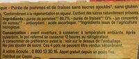 Pomme fraise BIO - Ingredients