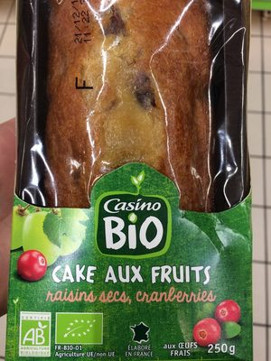Cake aux fruits raisins secs, cranberries - Produit