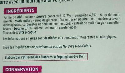 Gaufres des Flandres fourrage à la vergeoise - Ingrediënten - fr
