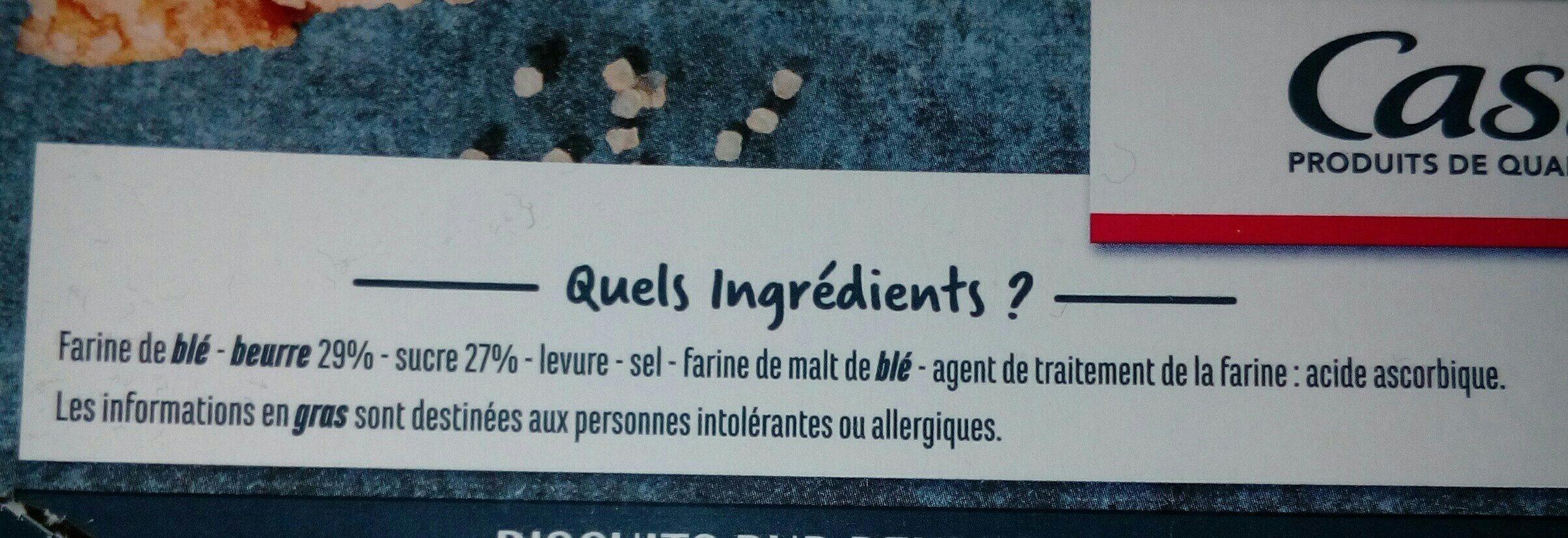 Bretzels aux cristaux de sucre - Ingredients - fr