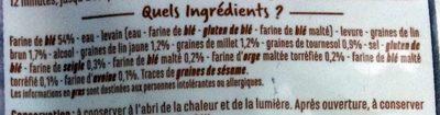 Baguette céréales et graines - Ingrediënten - fr