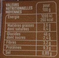 Baguette céréales et graines - Voedingswaarden - fr