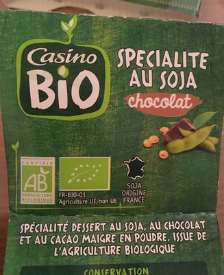 Spécialité au soja chocolat BIO - Produit - fr