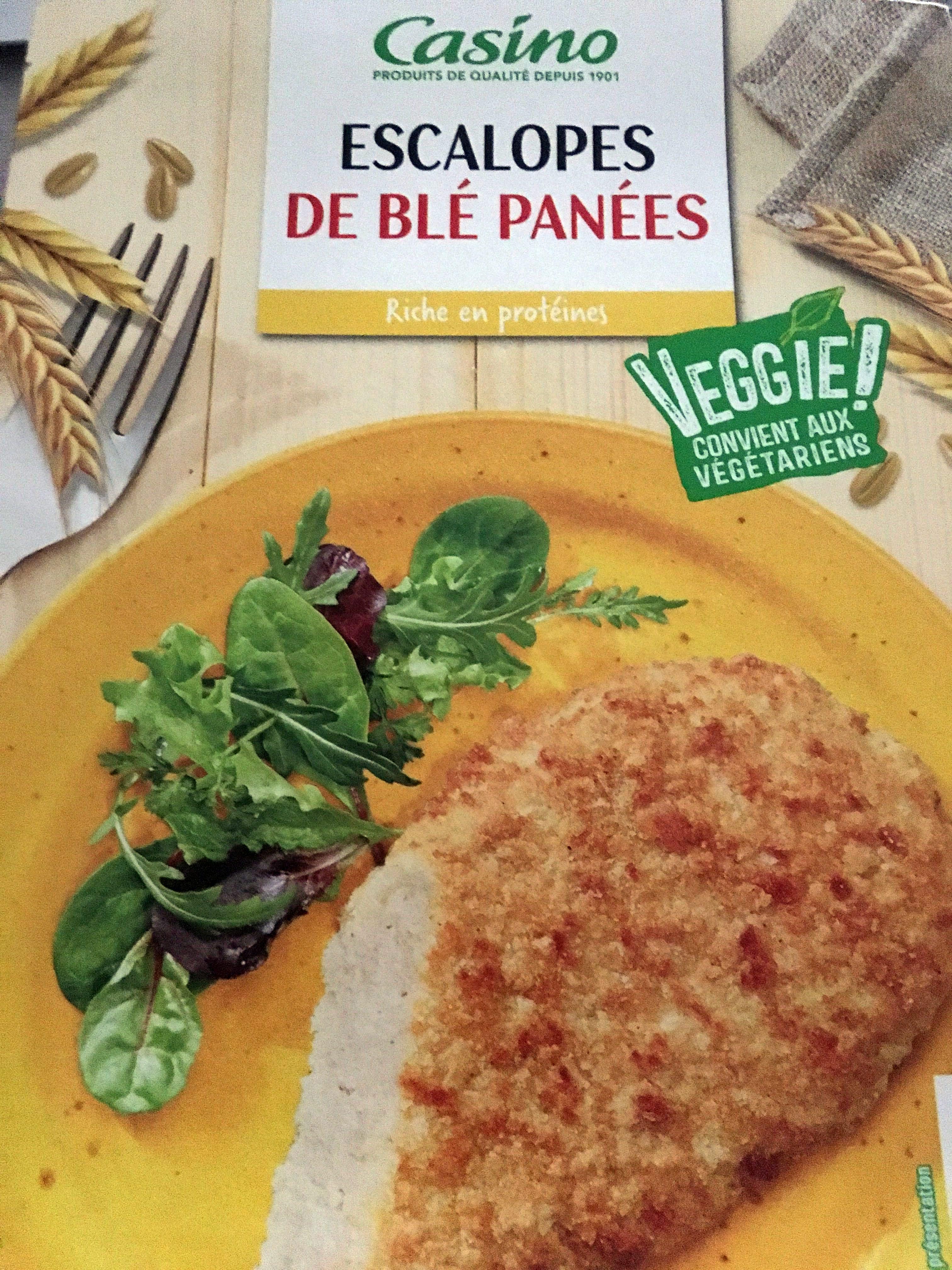 Escalope de blé panée - Product