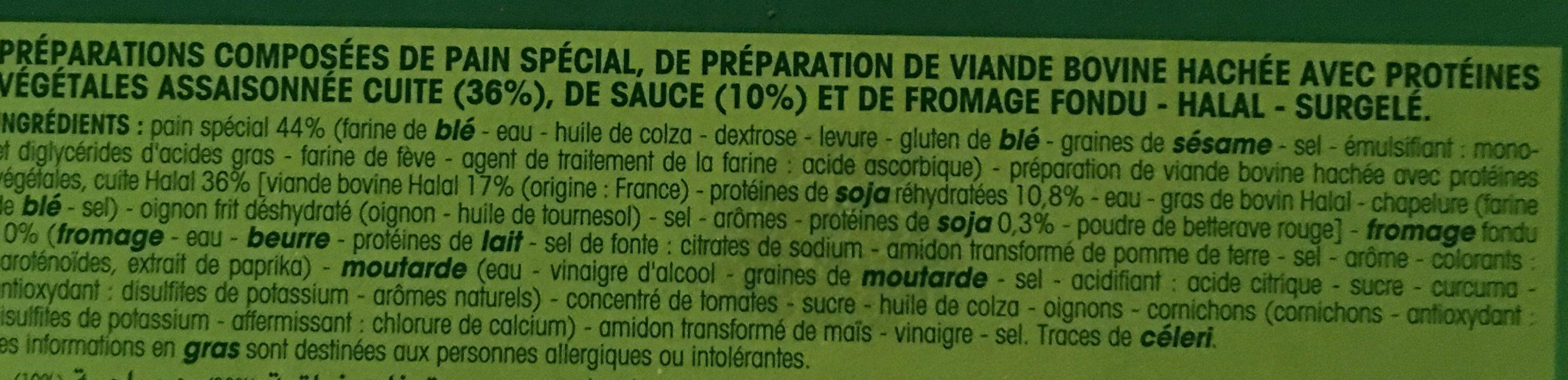 Cheeseburgers halal - Ingredients