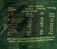Biscuits raisins, graines de courge, sésame - Voedingswaarden - fr